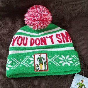 Other - NWT NEW ELF YOU DON'T SMELL LIKE SANTA KNIT BEANIE
